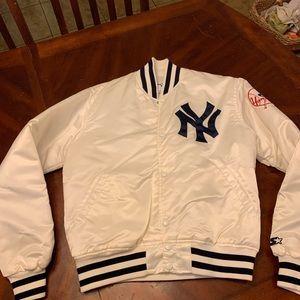 Jackets & Blazers - Vintage Starter Satin Jacket New York Yankees M